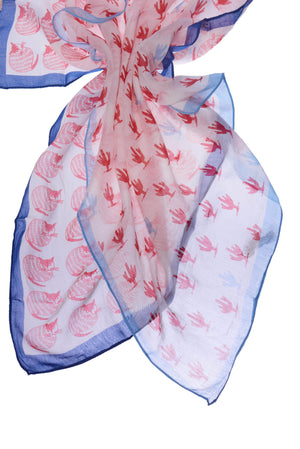 Printed Red, White and Blue Square Kerchief Bandana-Accessories