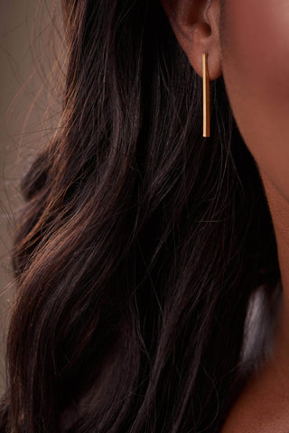 Solid Bar Earrings-Accessories