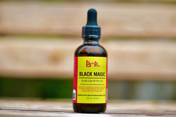 2oz Black Magic Hair Growth Oil w/ Dropper