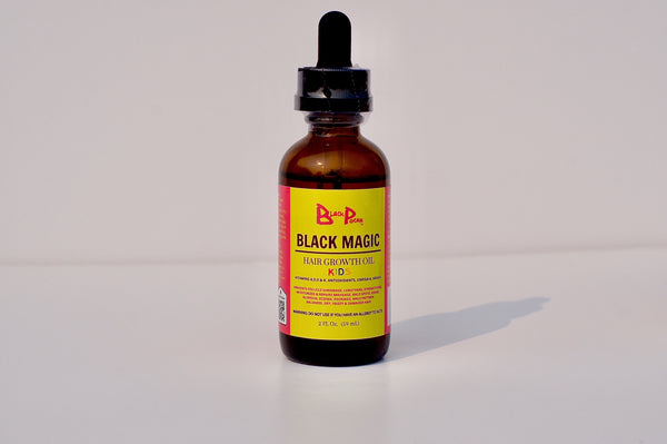 2oz Black Magic Growth Oil Kids w/ Dropper - www.BlackPocah.com