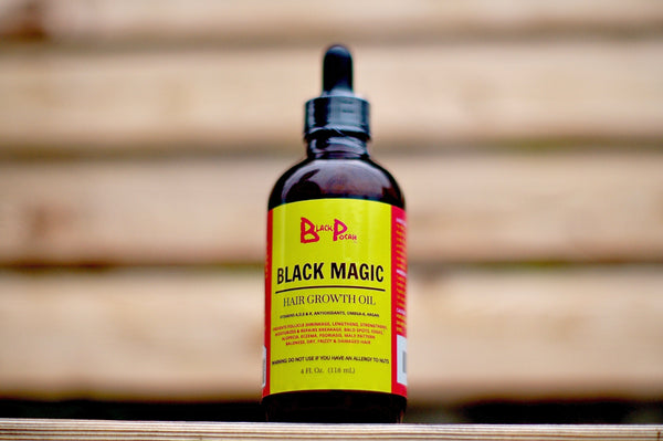 4oz Black Magic Hair Growth Oil w/ Dropper - www.BlackPocah.com