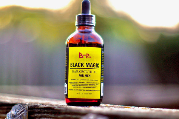4oz Black Magic Hair Growth Oil For Men w/ Dropper - www.BlackPocah.com