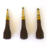 Set of Three Rosewood Handle Turnscrews Traditional Style .