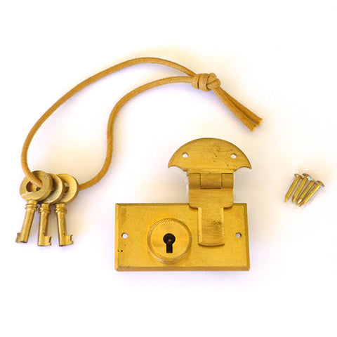 Traditional Brass Gun Case Lock