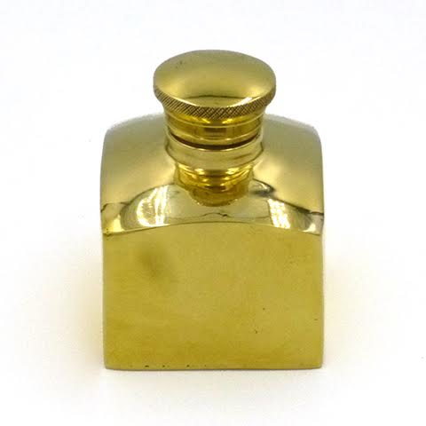 Square Brass Oil Pot