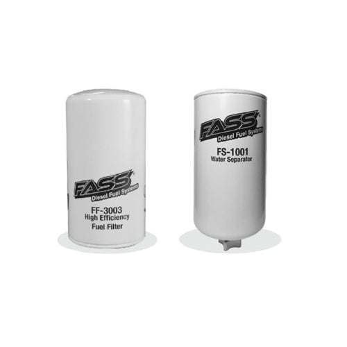 FASS Titanium Series FF-3003 Fuel Filter and FS-1001 Water Separator for Fuel Pump