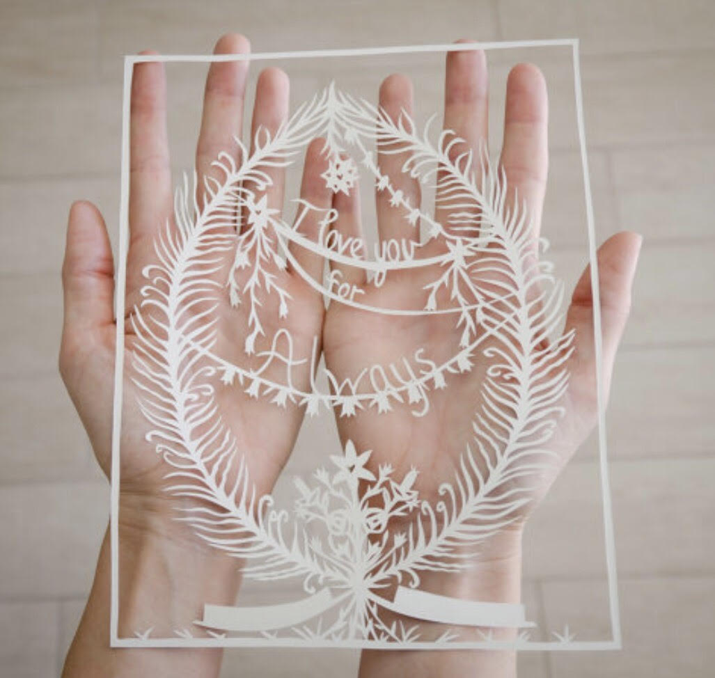 I Love You For Always Original Papercut