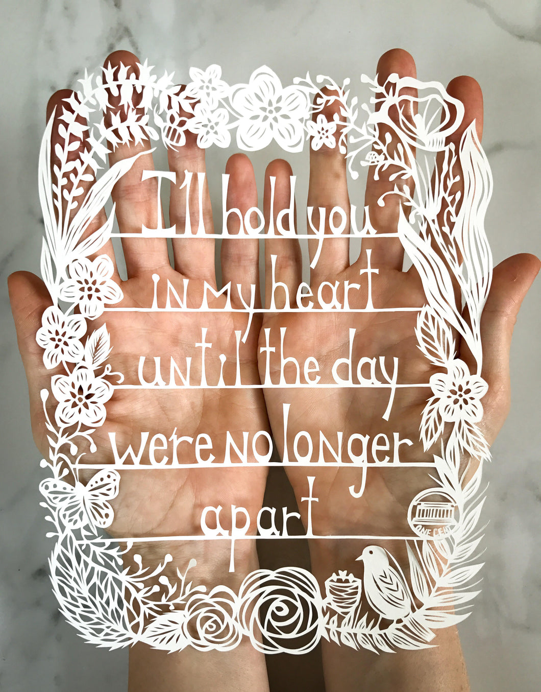 I'll Hold You In My Heart Original Papercut