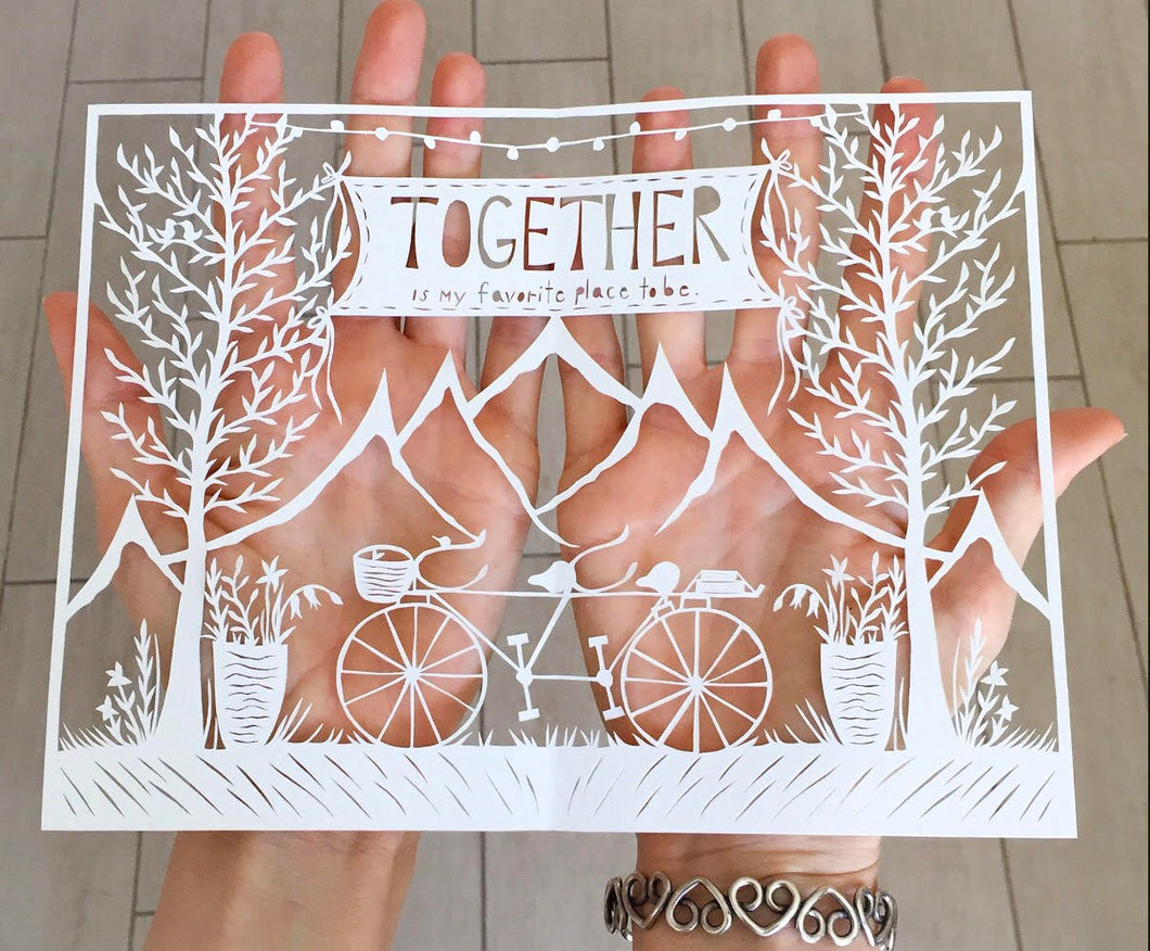 Together Bike Original Papercut