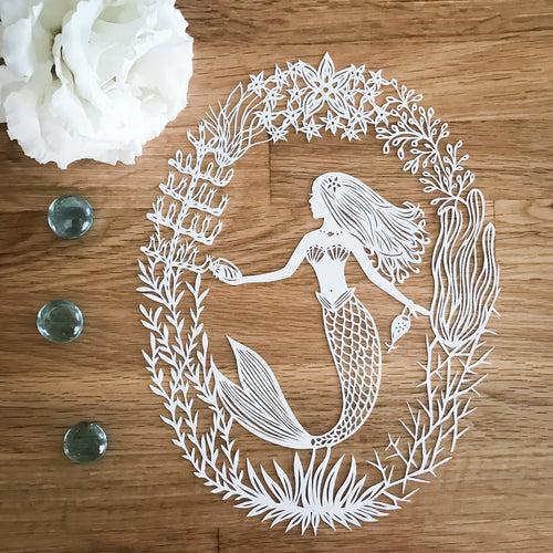 Graceful Mermaid Original Papercut
