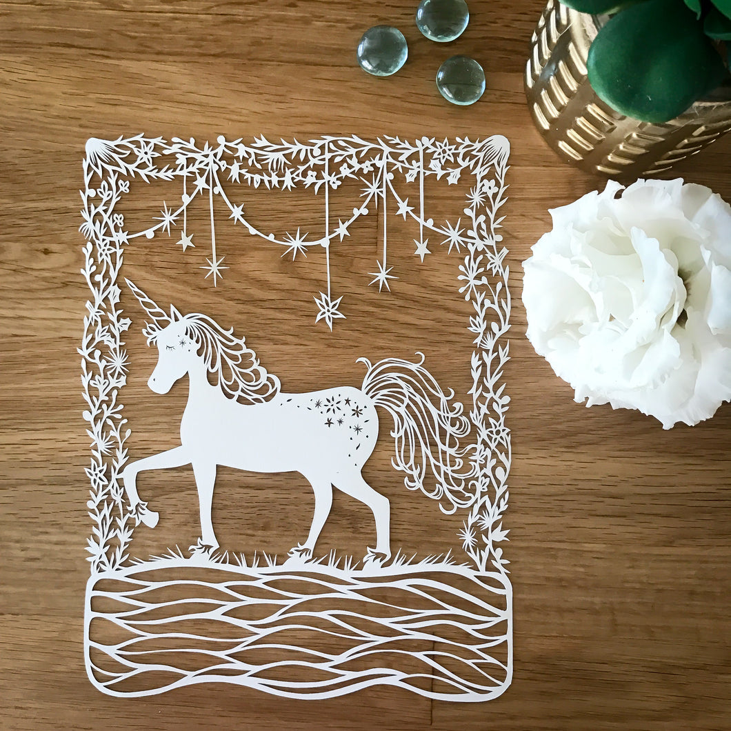 Mystic Unicorn Original Papercut
