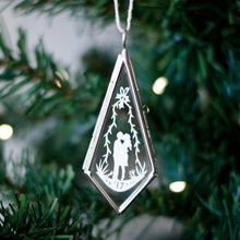 Lovers Christmas Papercut Ornament