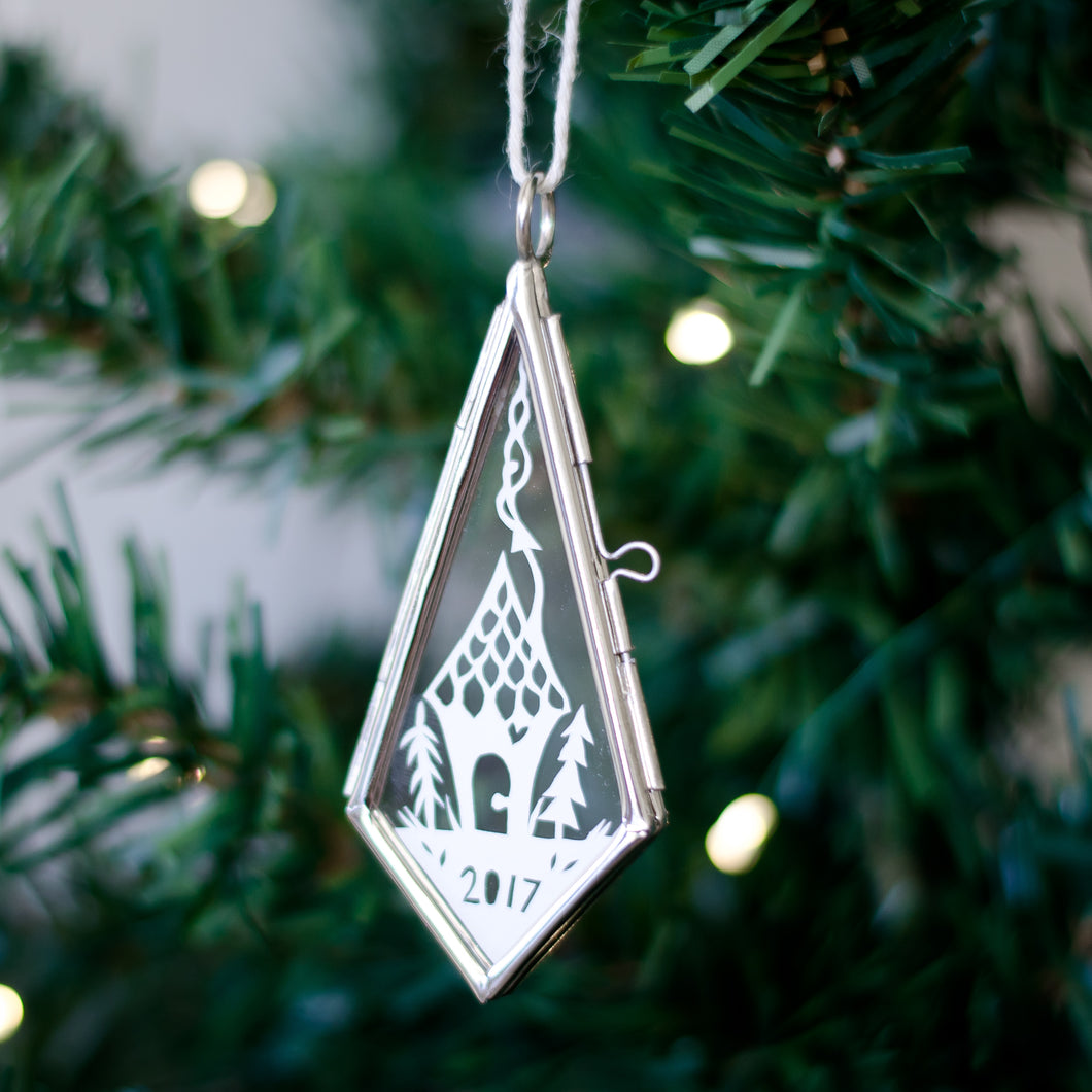 New Home Papercut Ornament