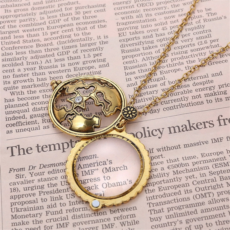 Vintage Magnifying Glass Pendant Necklace - All Things Jewelry