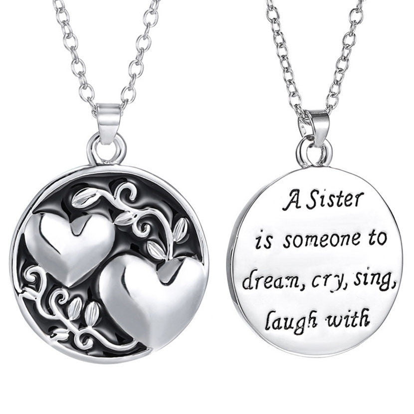 Engraved  Sister Necklace - All Things Jewelry