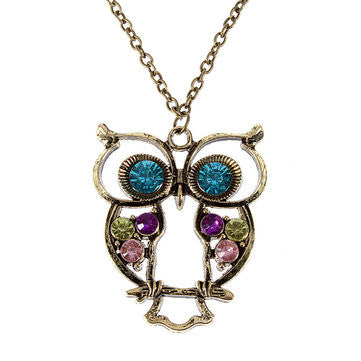Hollow Owl Necklace - All Things Jewelry