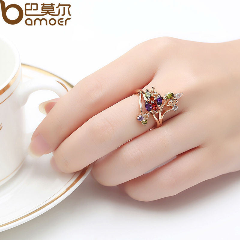 BAMOER High Quality  Gold Color Ring - All Things Jewelry