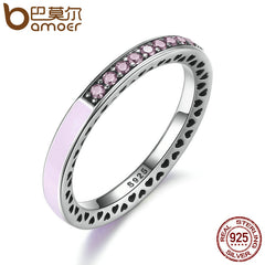 BAMOER 100% 925 Sterling Silver Radiant Hearts Ring - All Things Jewelry