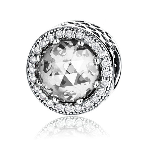 BAMOER 3 Color Wholesale 925 Sterling Silver Classic Round Shape Charm - All Things Jewelry