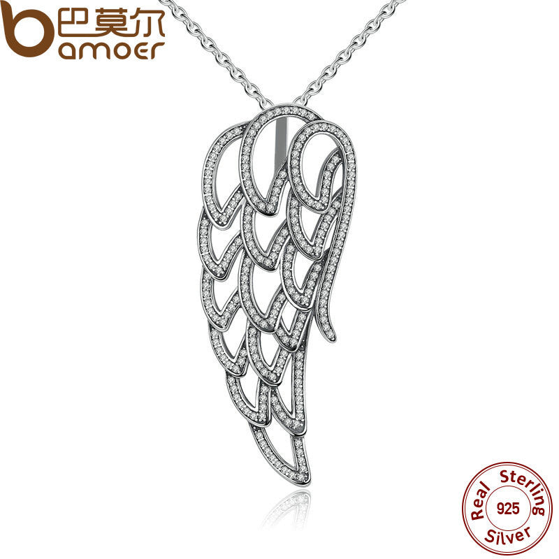 BAMOER New Arrival 925 Sterling Silver Angel Wing - All Things Jewelry