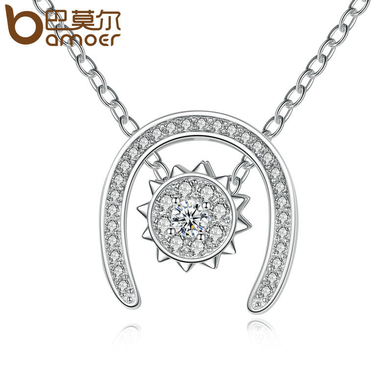 BAMOER Silver Color Sunlight Necklace - All Things Jewelry