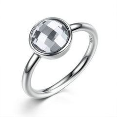BAMOER Pure 925 Sterling Silver Rings Imitated Stone Ring - All Things Jewelry