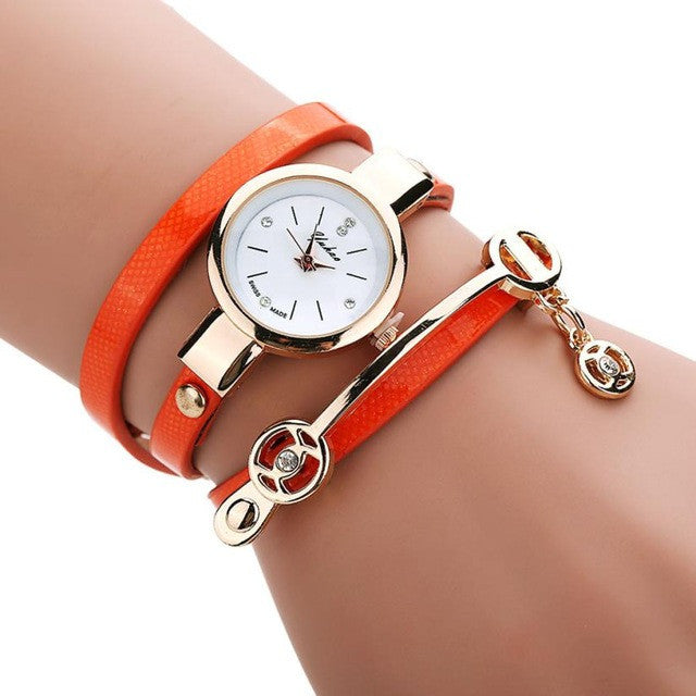 Luxury Bracelet Casual Quartz Watch PU Leather - All Things Jewelry