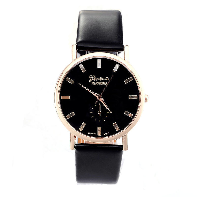 GENVIVIA  Leather Quartz Watch - All Things Jewelry