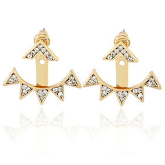 SUSENSTONE Alloy Triangle Lady Stud Earrings - All Things Jewelry