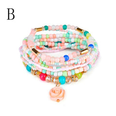 Beaded Bohemian Multi-Layer Style Bracelet - All Things Jewelry