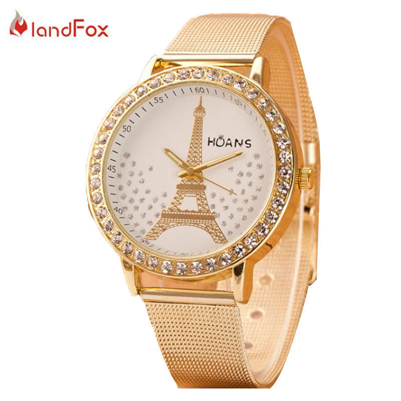 Gold Mesh Stainless Steel Relogio Feminino Quartz Watch - All Things Jewelry