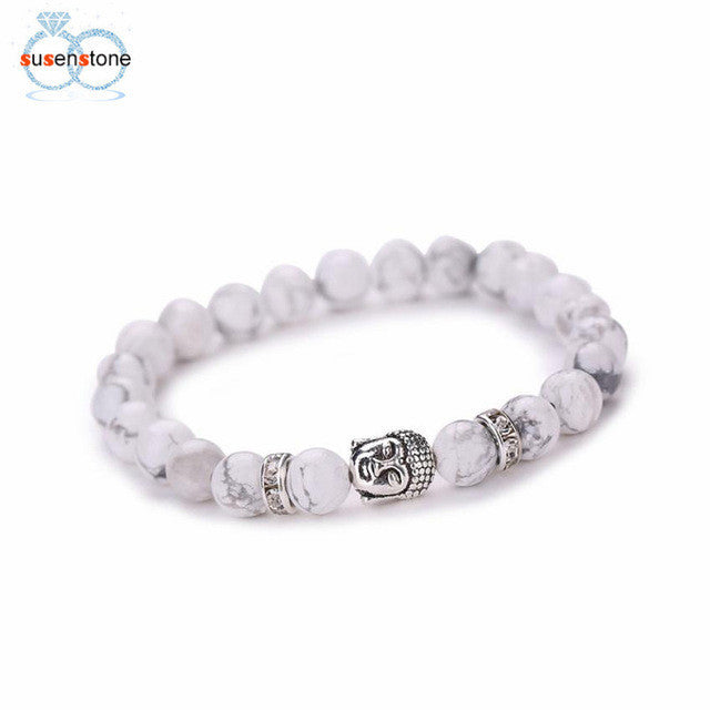 SUSENSTONE Buddha Elastic Beaded Bracelet - All Things Jewelry