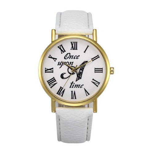Once Upon A Time Phrase Leather Wrist Watch - All Things Jewelry