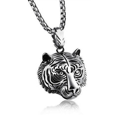Stainless Steel 60CM Men Pendant Necklace Of Animal Tiger - All Things Jewelry