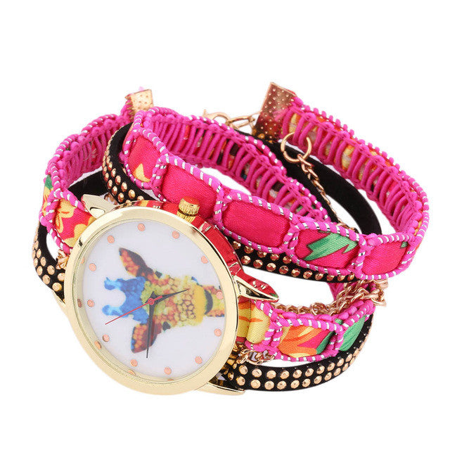Giraffe Watch Knit Woven Strap - All Things Jewelry