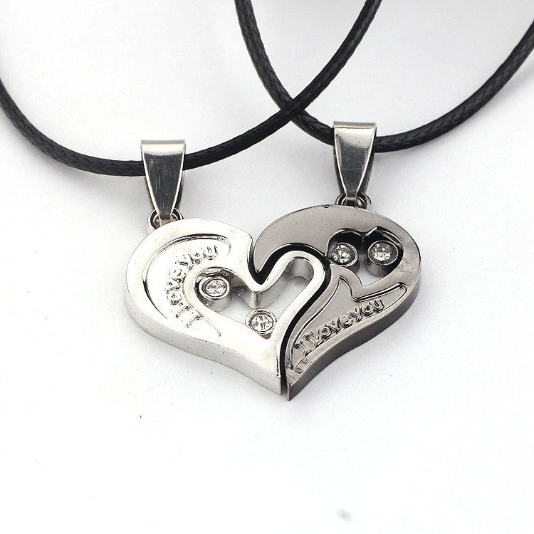 I Love You Heart Shape Pendant Necklace - All Things Jewelry