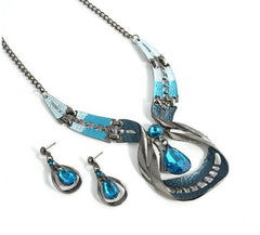 Water Drop Earring And Necklace Set - All Things Jewelry