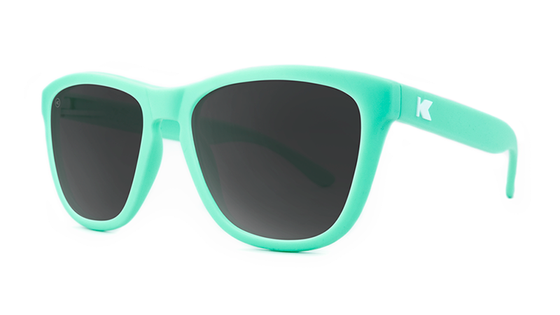1a99c2ba4a7 ... Premiums Sunglasses with Mint Green Frames and Black Smoke Lenses