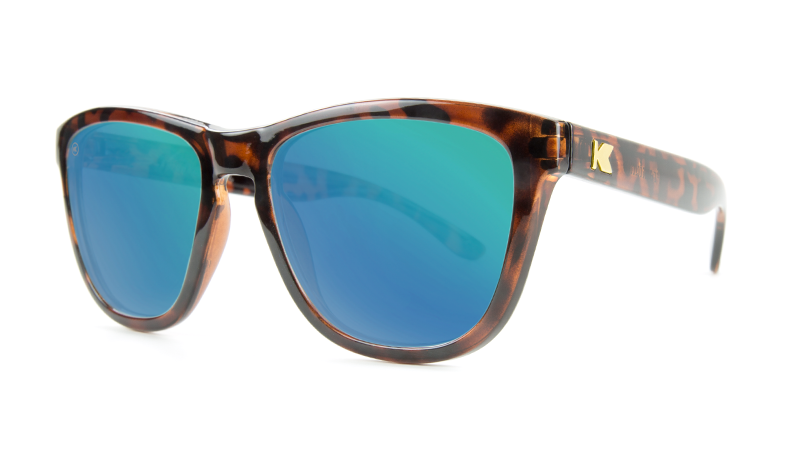 a5fa823fa78 ... Premiums Sunglasses with Tortoise Shell Frames and Green Moonshine  Mirrored Lenses