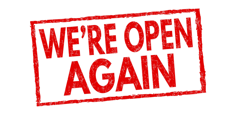 We're Re-Opening Again!!!
