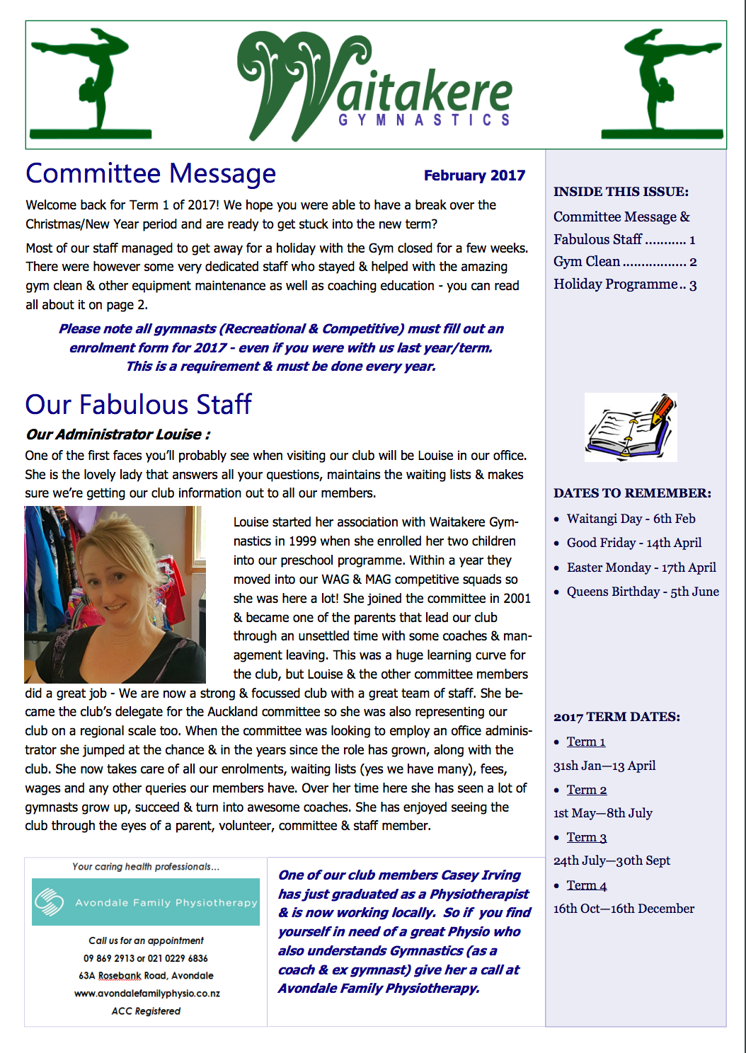 Club Newsletter February 2017