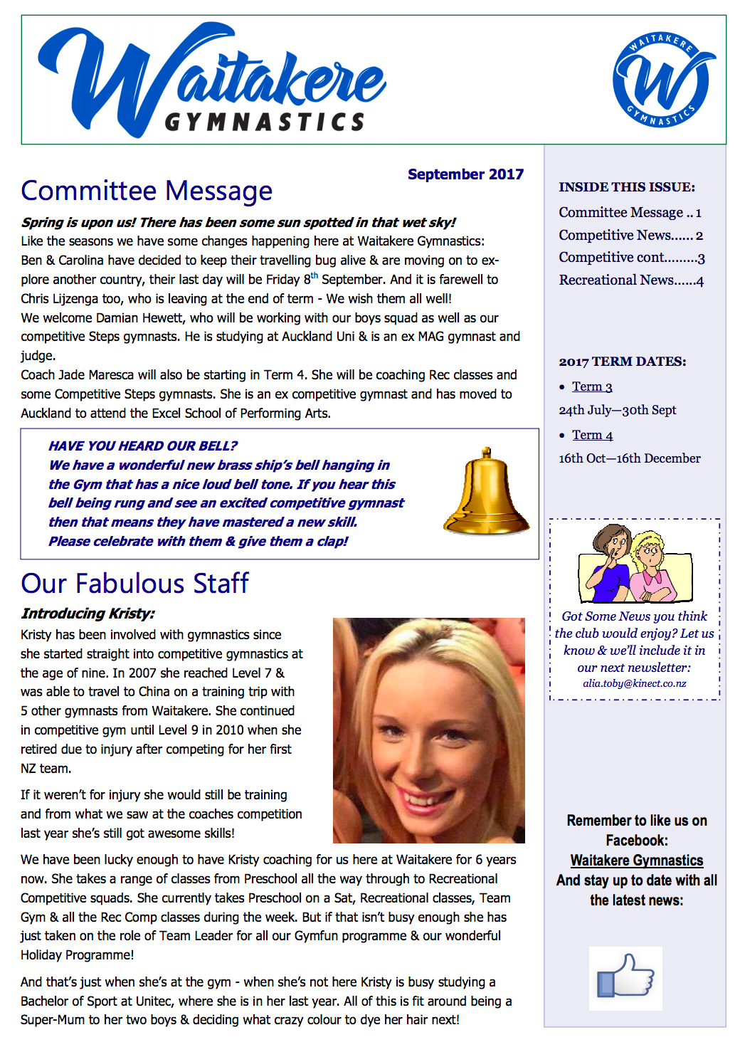 Club Newsletter September 2017