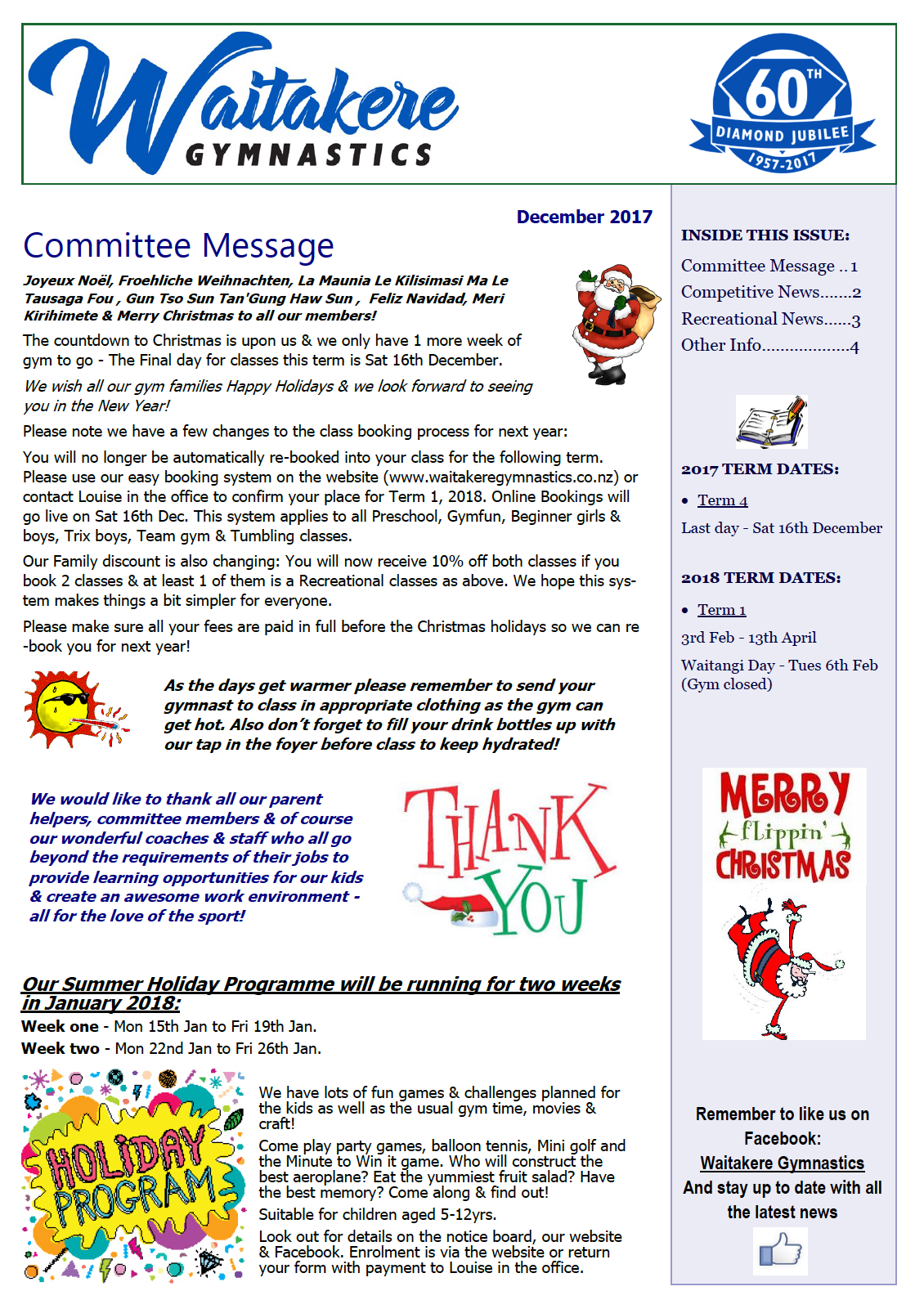 Club Newsletter December 2017