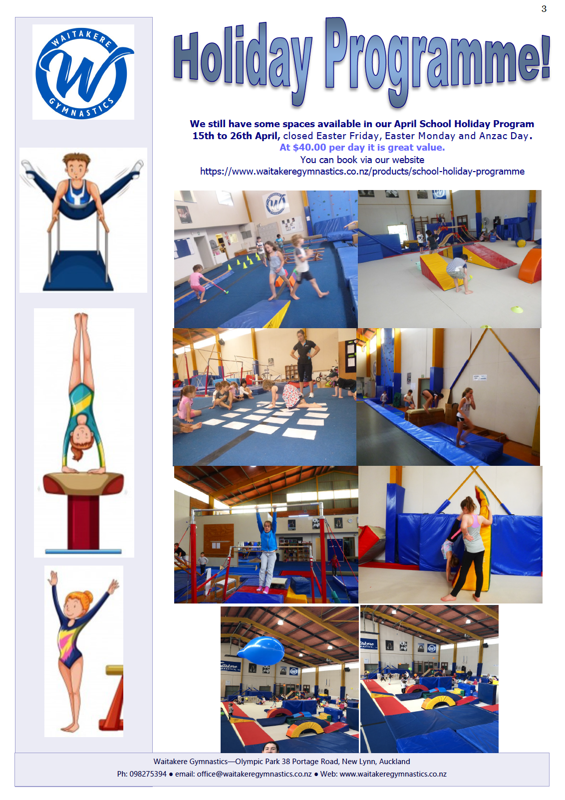 Gym Newsletter