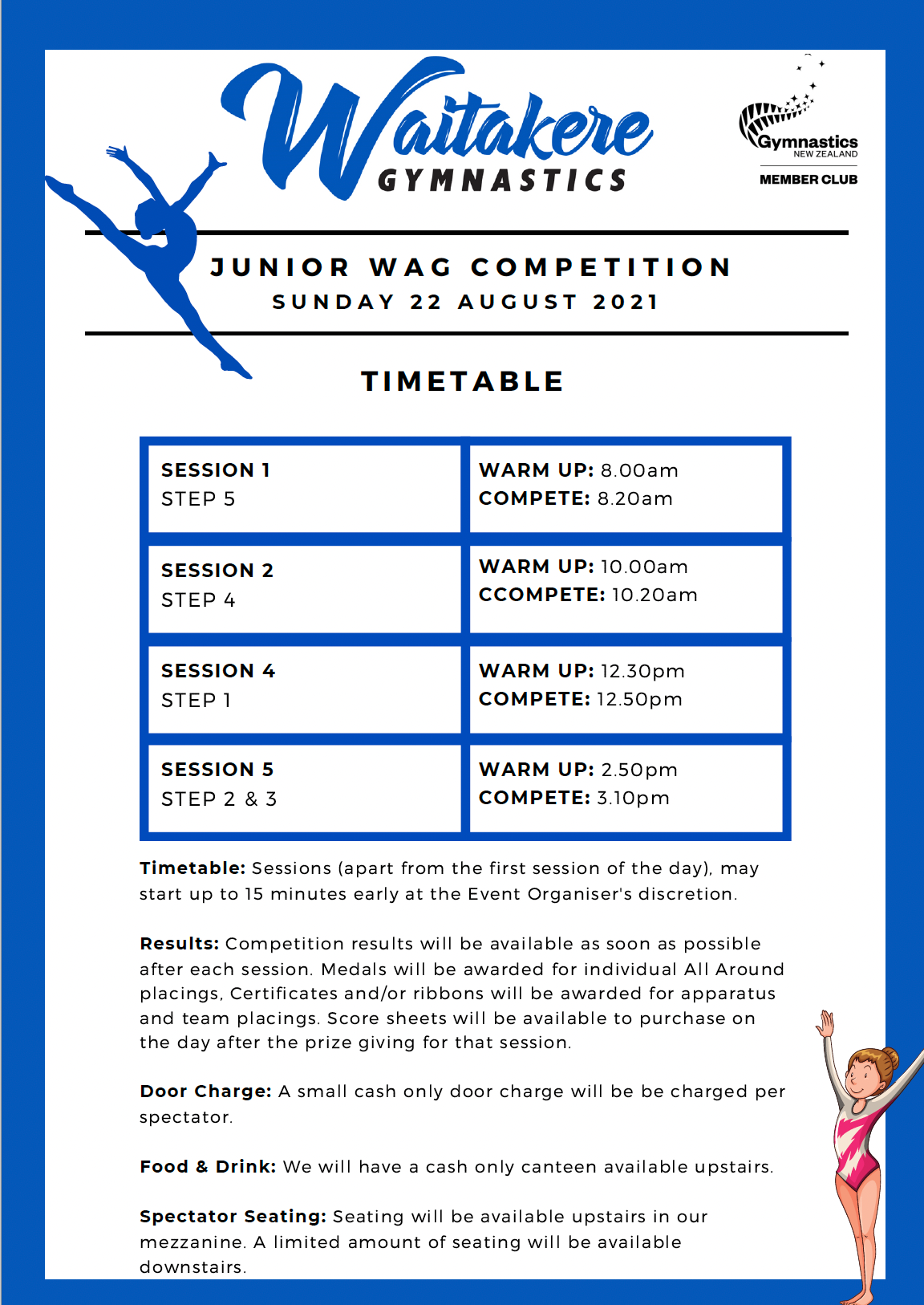 Waitakere Gym Junior Competition