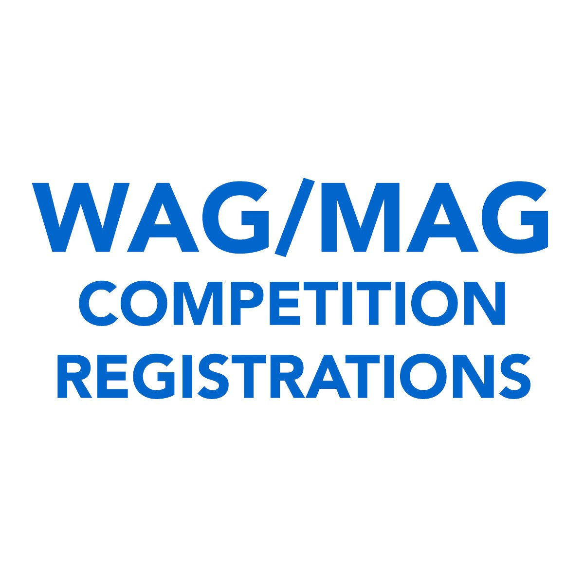 WAG Competition Registrations