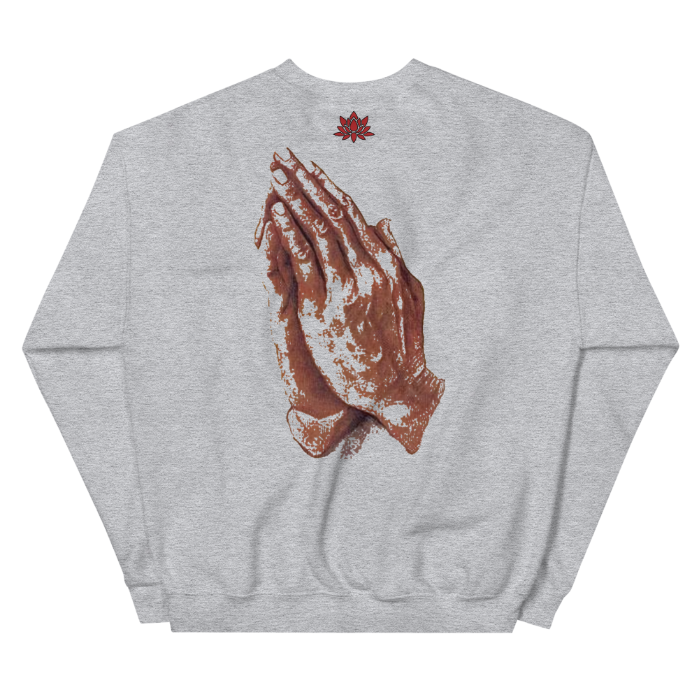 Keep God Close w/Prayer Hands Crewneck (MORE COLORS AVAILABLE)