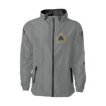 Chest Logo Windbreaker Jacket - Grey