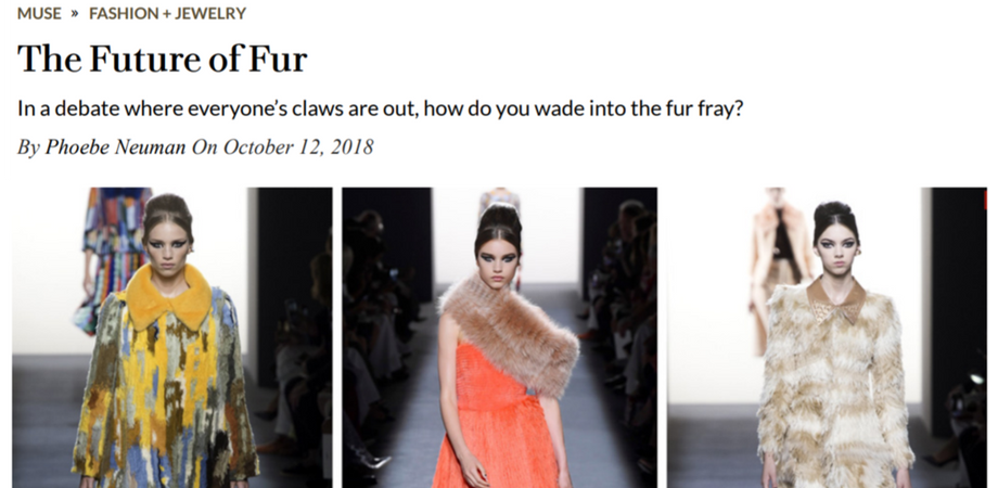 "ROBB REPORT - Maison Atia mentioned in article "" The Future of Fur"""