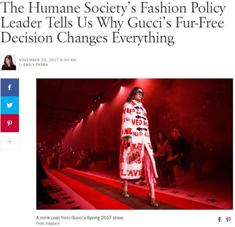 VOGUE - Chloe Mendel Mentioned by Humane Society Fashion Policy Adviser